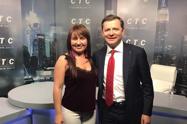 На фото лідер Радикальної партії Олег Ляшко та генеральний директор телеканалу СТС Охріменко Лариса Іванівна